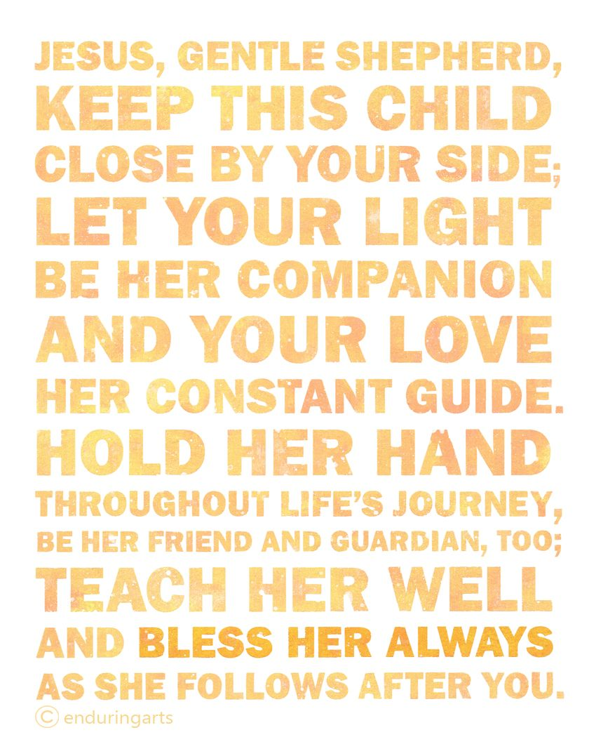 Christian Word Art ~ Prayer for a young girl. www.enduringarts.etsy ...