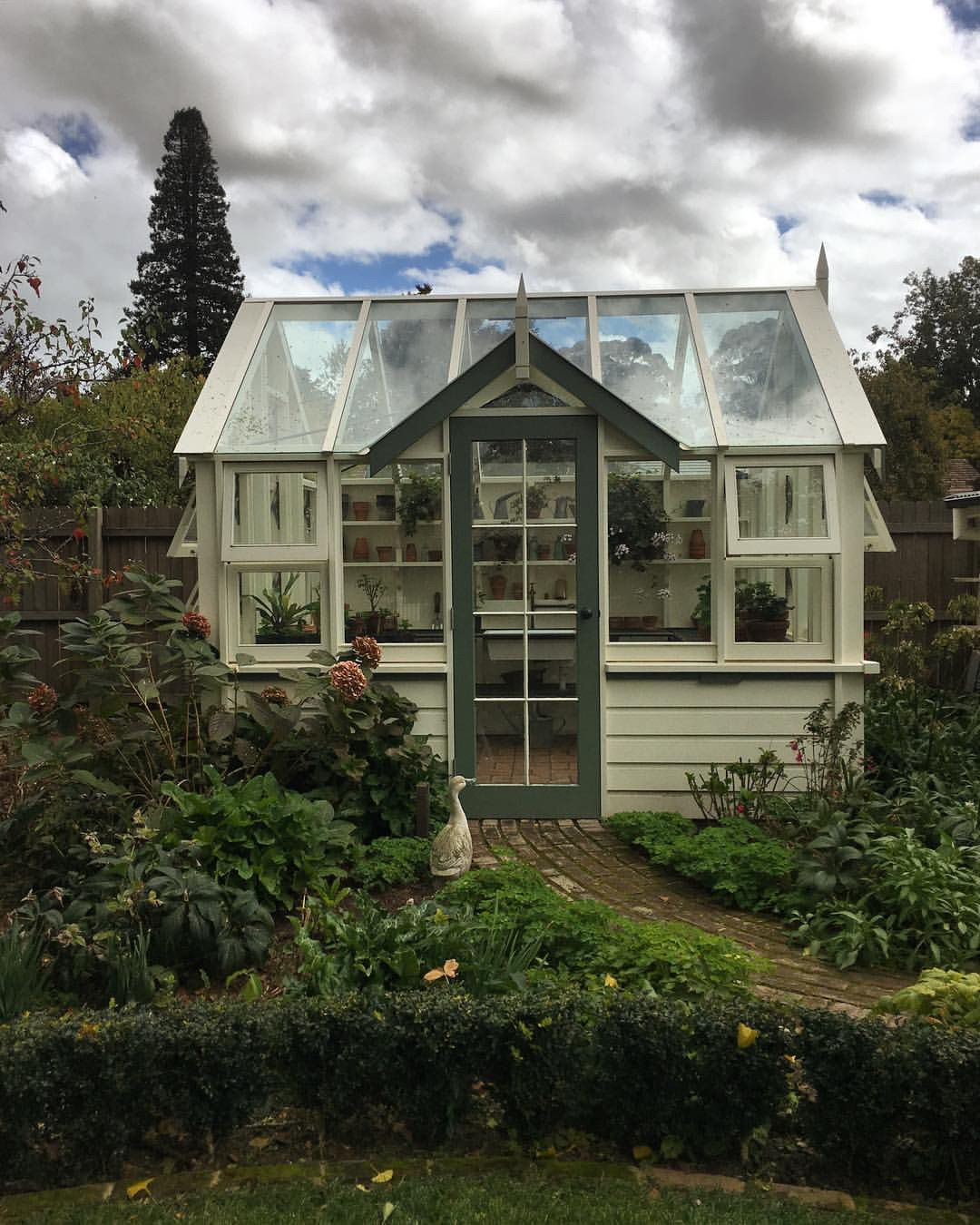 """oldfarmhouse: """" """"This little greenhouse is about to start filling up as many of my plants need to over-winter…in a few months we'll start planting seeds for summer flowers.. @jenny..."""