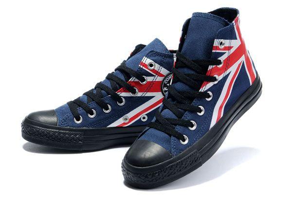UK flag Chucks #converse #chucktaylor #hightops #unionjack
