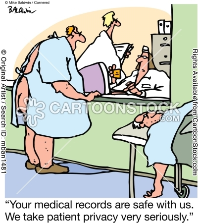 """""""Your medical records are safe with us. We take patient"""