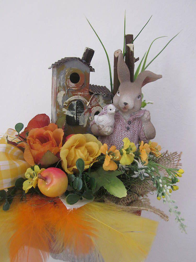 Dekorácie - dekorácia-Zajka-velká noc,jarný v krásnom košíčku - 6445582_