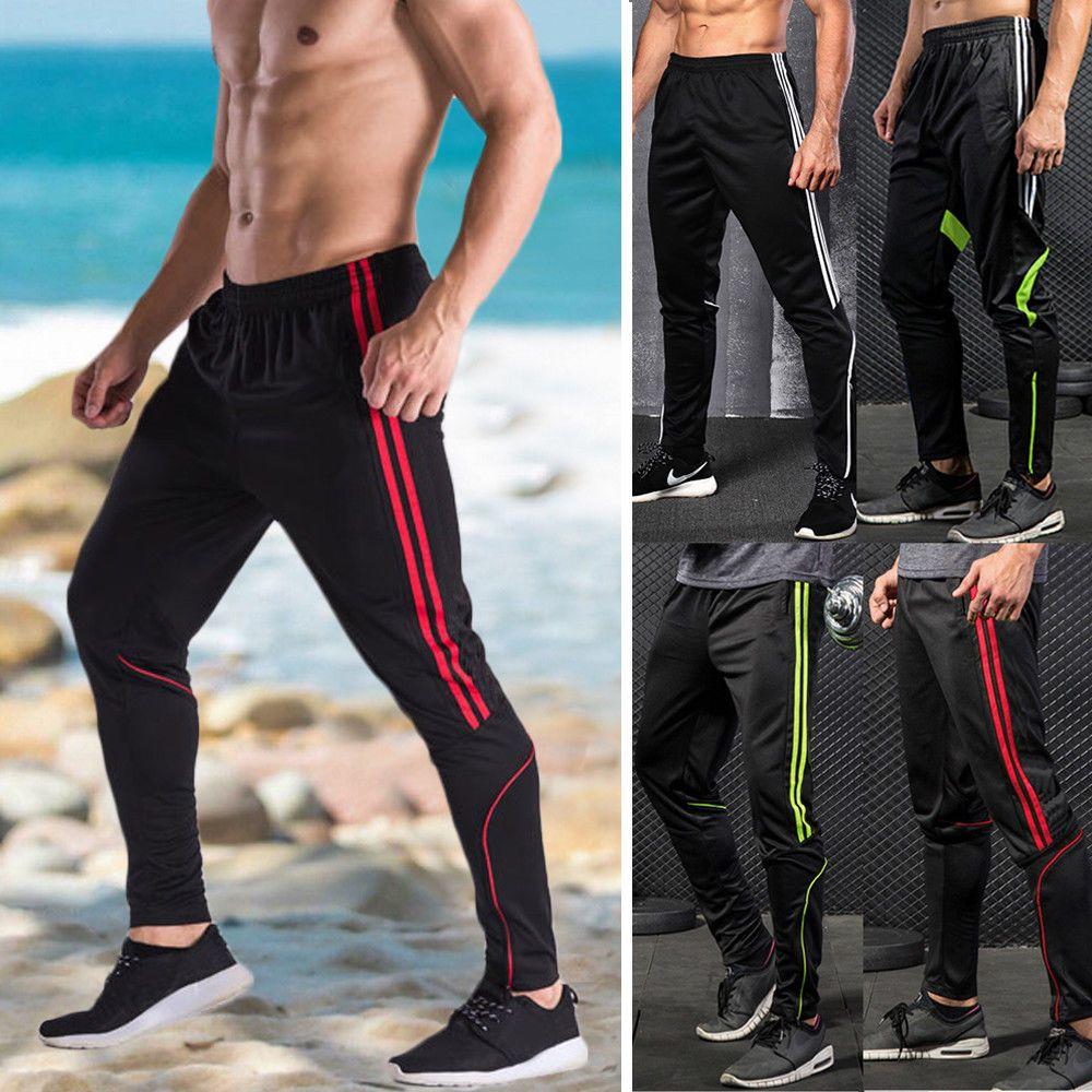 Men Sport Pants Long Trousers Tracksuit Fitness Workout Joggers Gym Sweatpants V