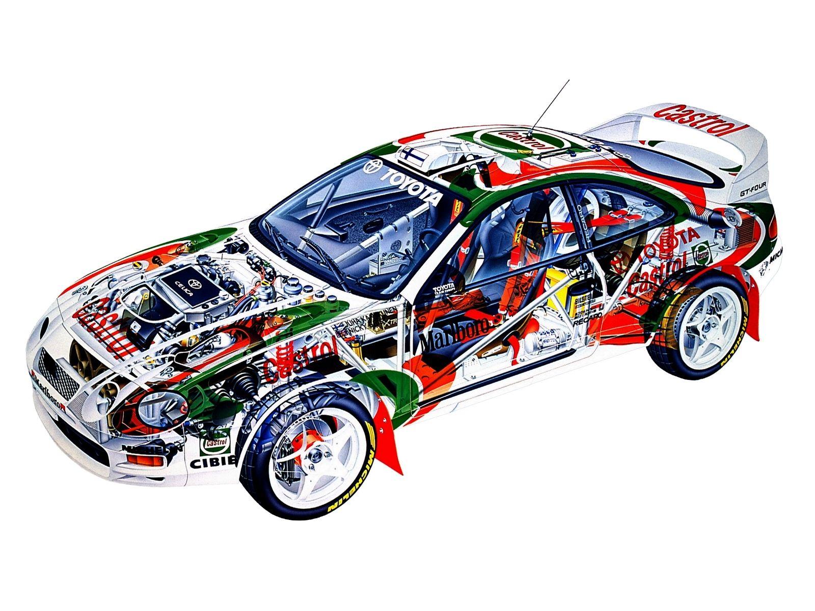 1994-1999 Toyota Celica WRC - Illustration attributed to Antonio ...