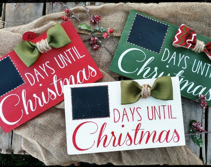 Days til Santa Sign Countdown to Christmas Sign Christmas Etsy