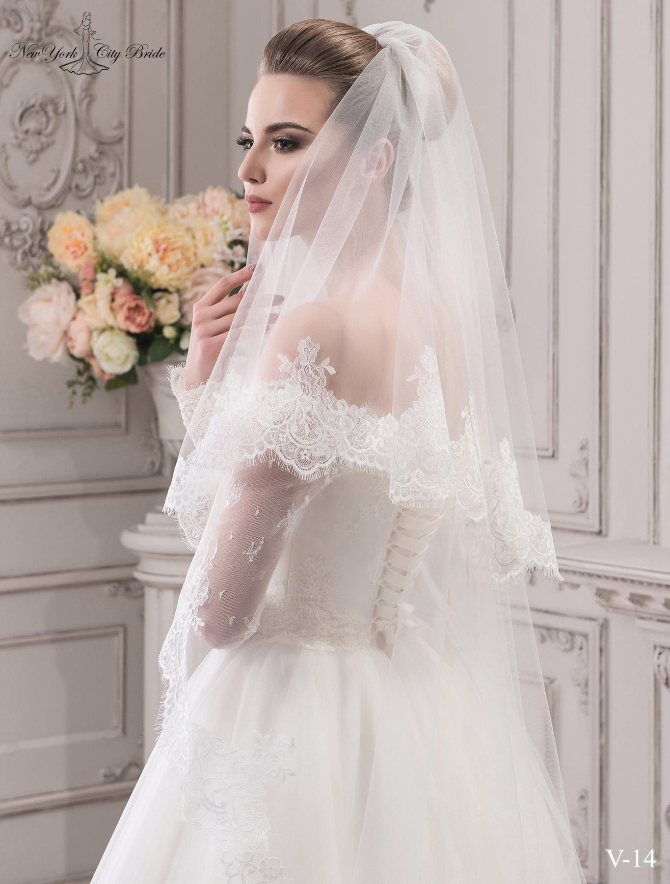 Two Tier Wedding Veil Jane For Sale At Ny City Bride In 2020 Wedding Veils Lace Lace Weddings Lace Veils Bridal