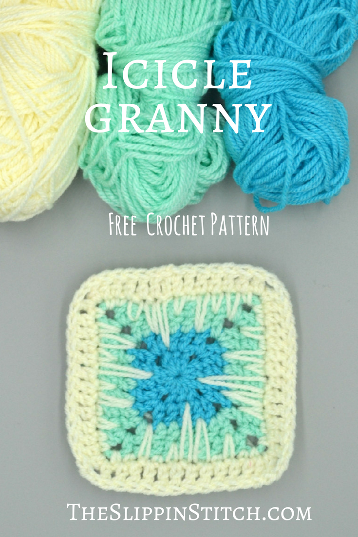 Free Crochet Pattern - The Icicle Granny Square - #crochet ...