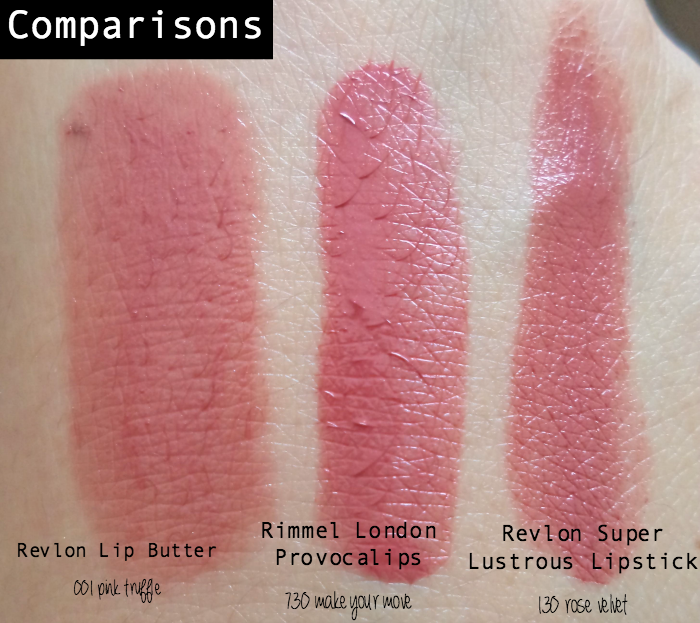 Review Rimmel London Provocalips Revlon Super Lustrous Lipstick Revlon Lip Butter Makeup Forever Lipstick