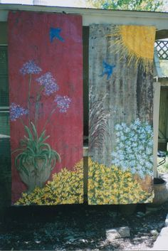 Painting Artwork On Rusty Old Corrugated Roof Tins For Ruth Barn Tin Painting Corrugated Roofing