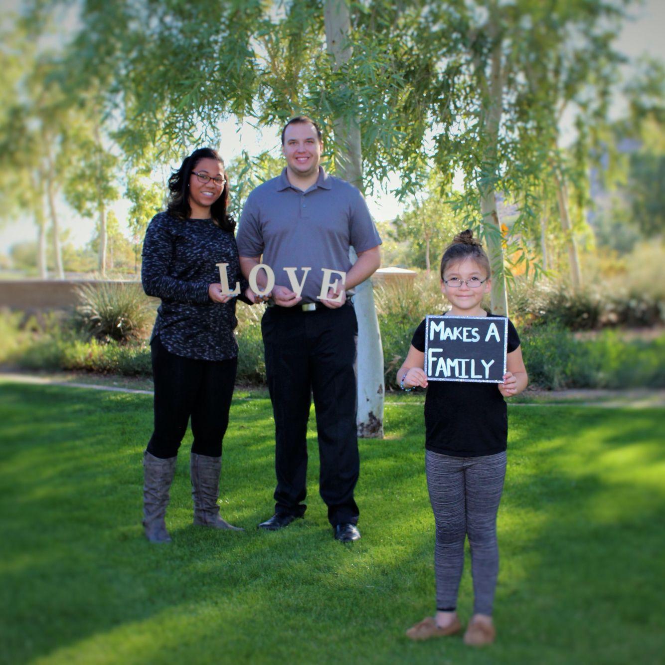 Blended family photos