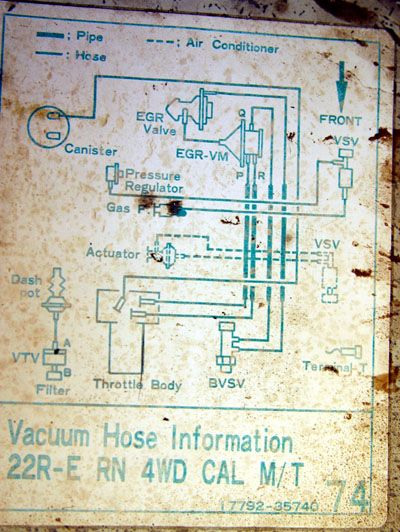 1985 4runner vacuum line diagram - Google Search | fix my ...