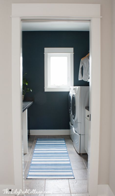 Navy Laundry Room Makeover and a Giveaway - The Lilypad Cottage
