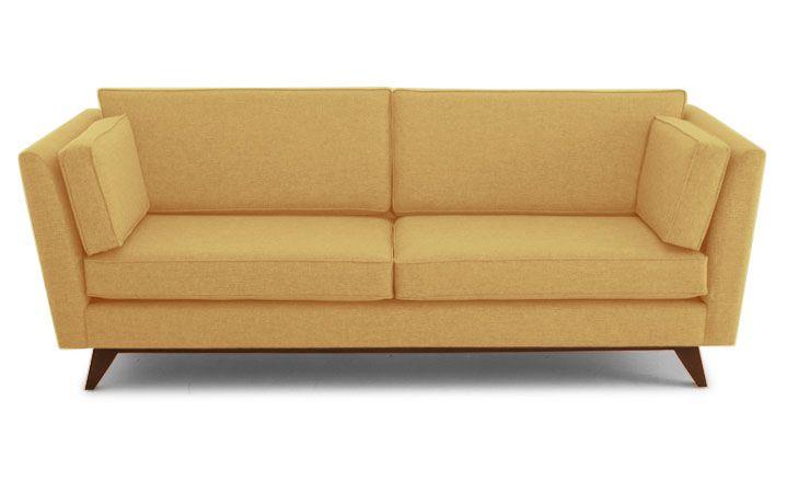 Roller Sofa Cushions on sofa, Yellow leather sofas