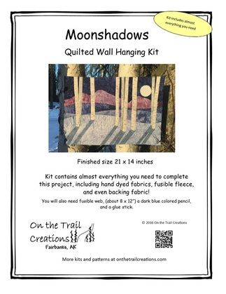 Moonshadows quilted wall hanging kit