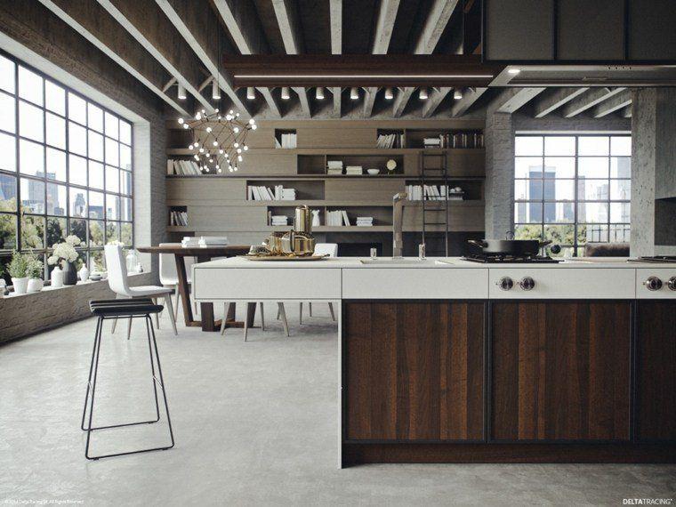 meuble séparation cuisine salon design idée tabouret aménagement