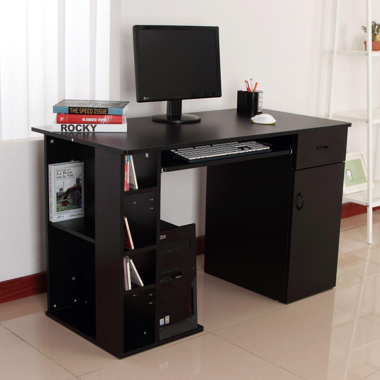 Awe Inspiring Small Computer Desk With Printer Shelf Hixpce Info Home Office Computer Desk Home Office Storage Small Computer Desk