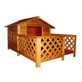 Merry Pet 3 25 ft x 6 6 ft x 7 5 ft Wood X Dog House
