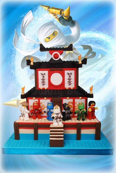 Awesome lego ninjago fire temple cake pinterest ninja for Lego ninjago zimmer deko