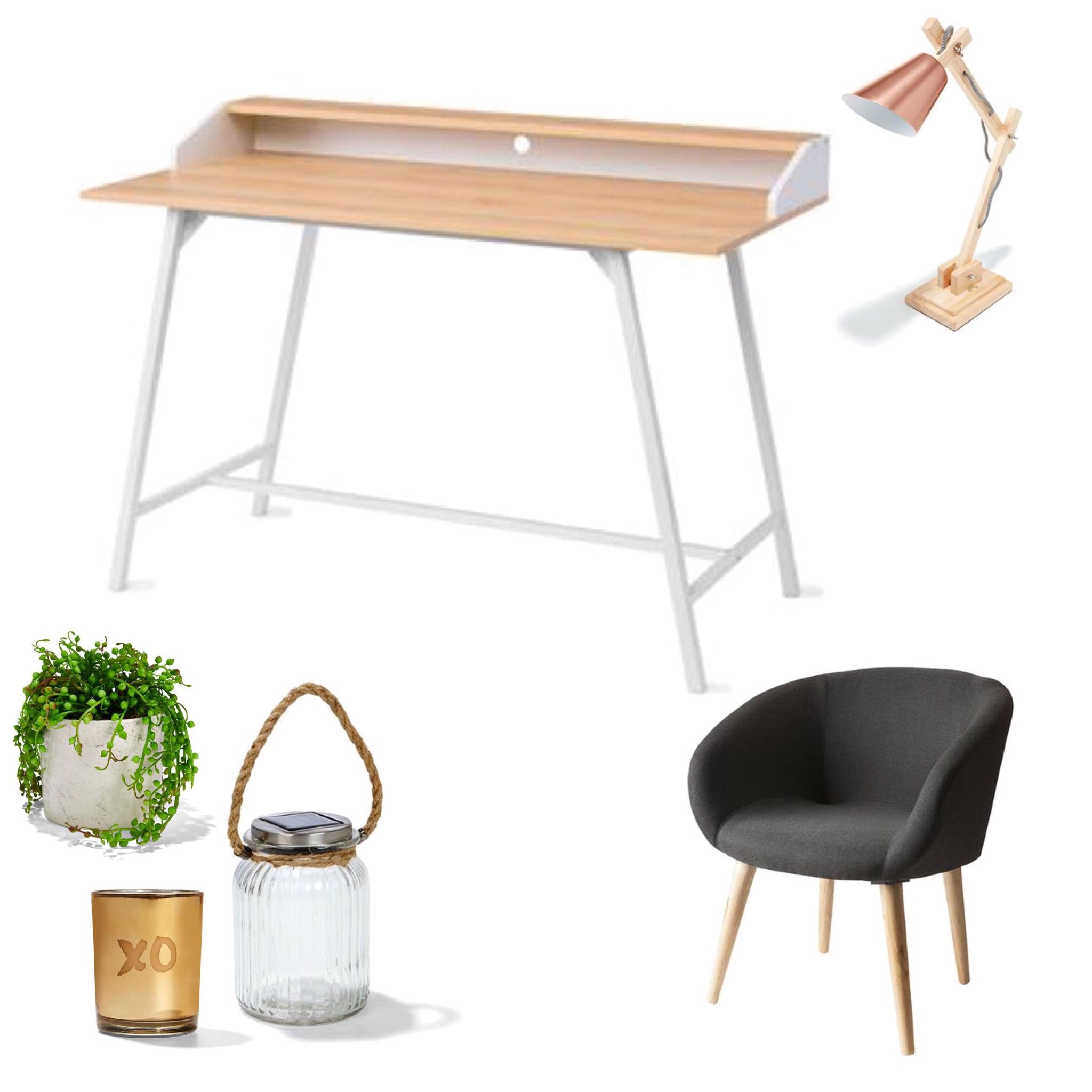 Kmart Scandinavian Desk and Occasional Chair Deco also kmart