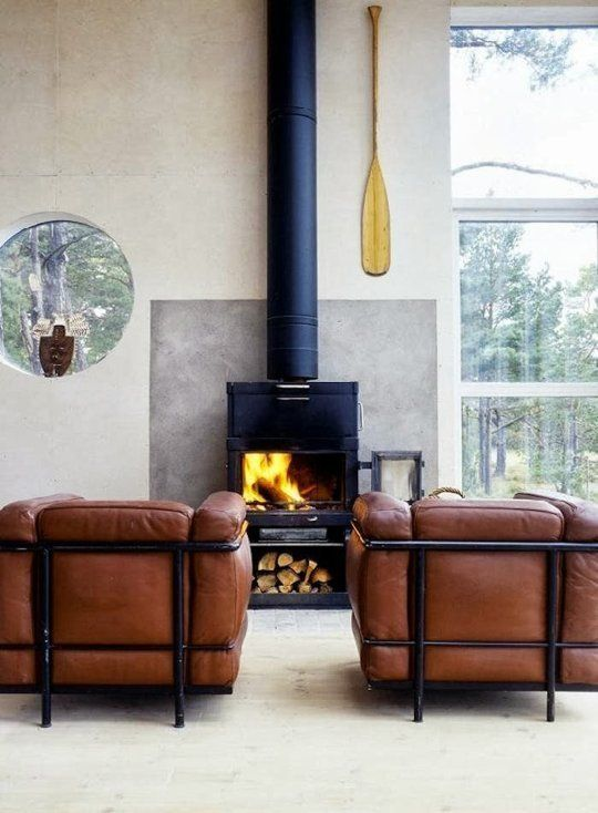 10 Wonderful Spaces With A Wood Stove Luxury House Designs My Scandinavian Home Scandinavian Home