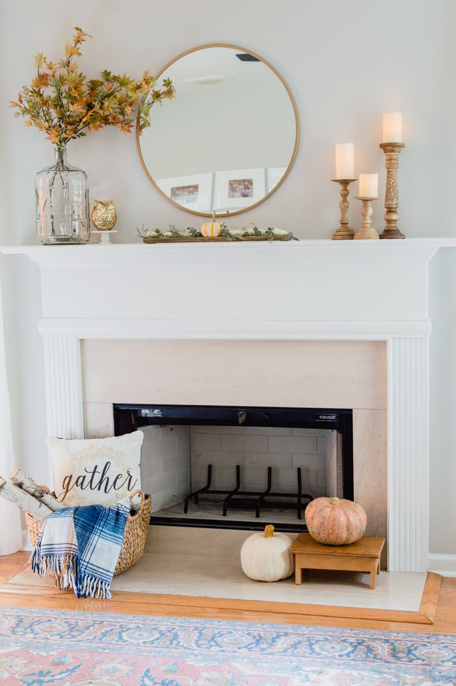 Simple Fall Fireplace Decor Video Fall Fireplace Decor Fall