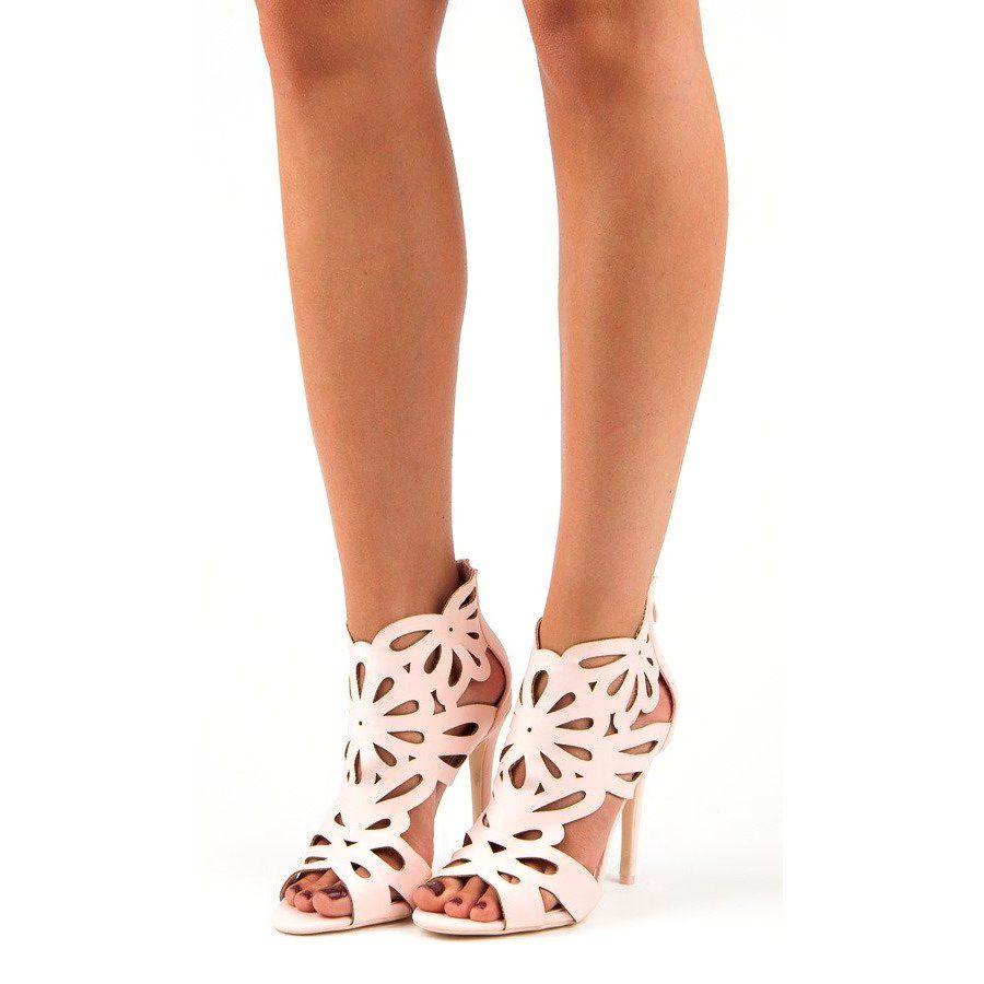 Eleganckie Sandaly Z Cholewka Vices Rozowe Shoes Mule Shoe Sandals