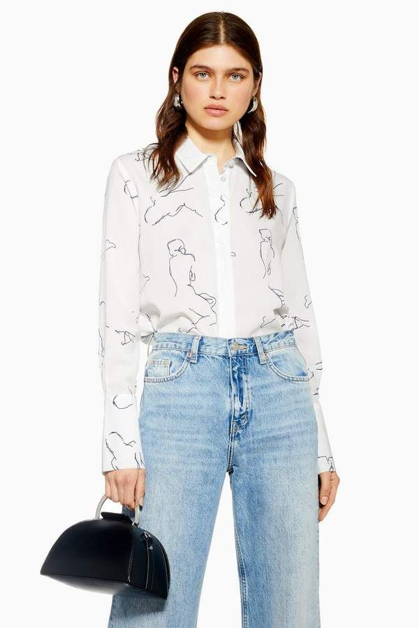 08aa895e Topshop Abstract Print Shirt in 2019 | Products | Printed shirts ...