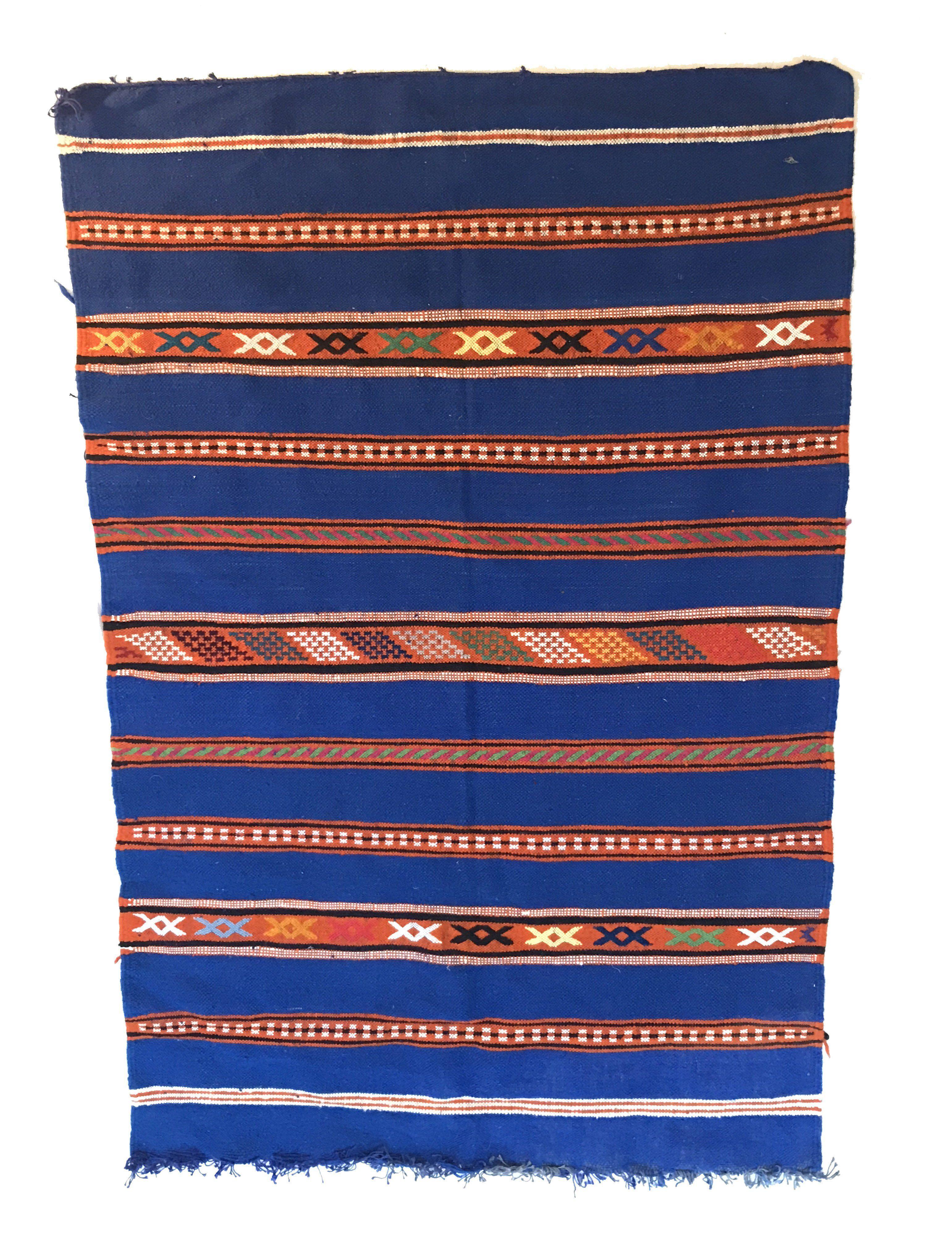 Orange Moroccan Throw Rug