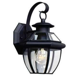 View the Sea Gull Lighting 8037 Traditional / Classic 1 Light Outdoor Wall Sconce from the Lancaster Collection at Build.com.