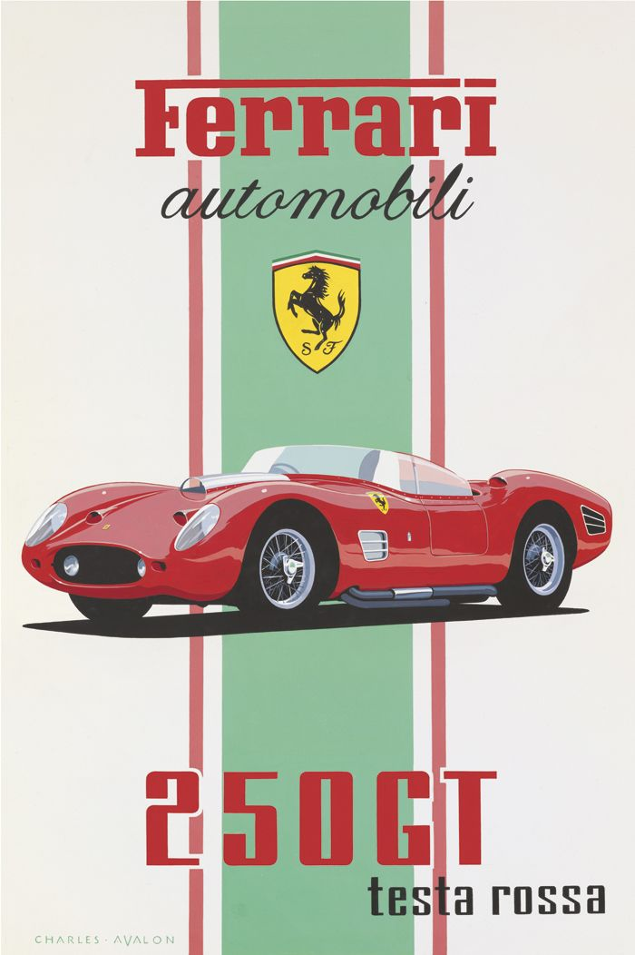 This is a Factory Produced Poster! Ferrari Crest Very Rare Car Poster Logo