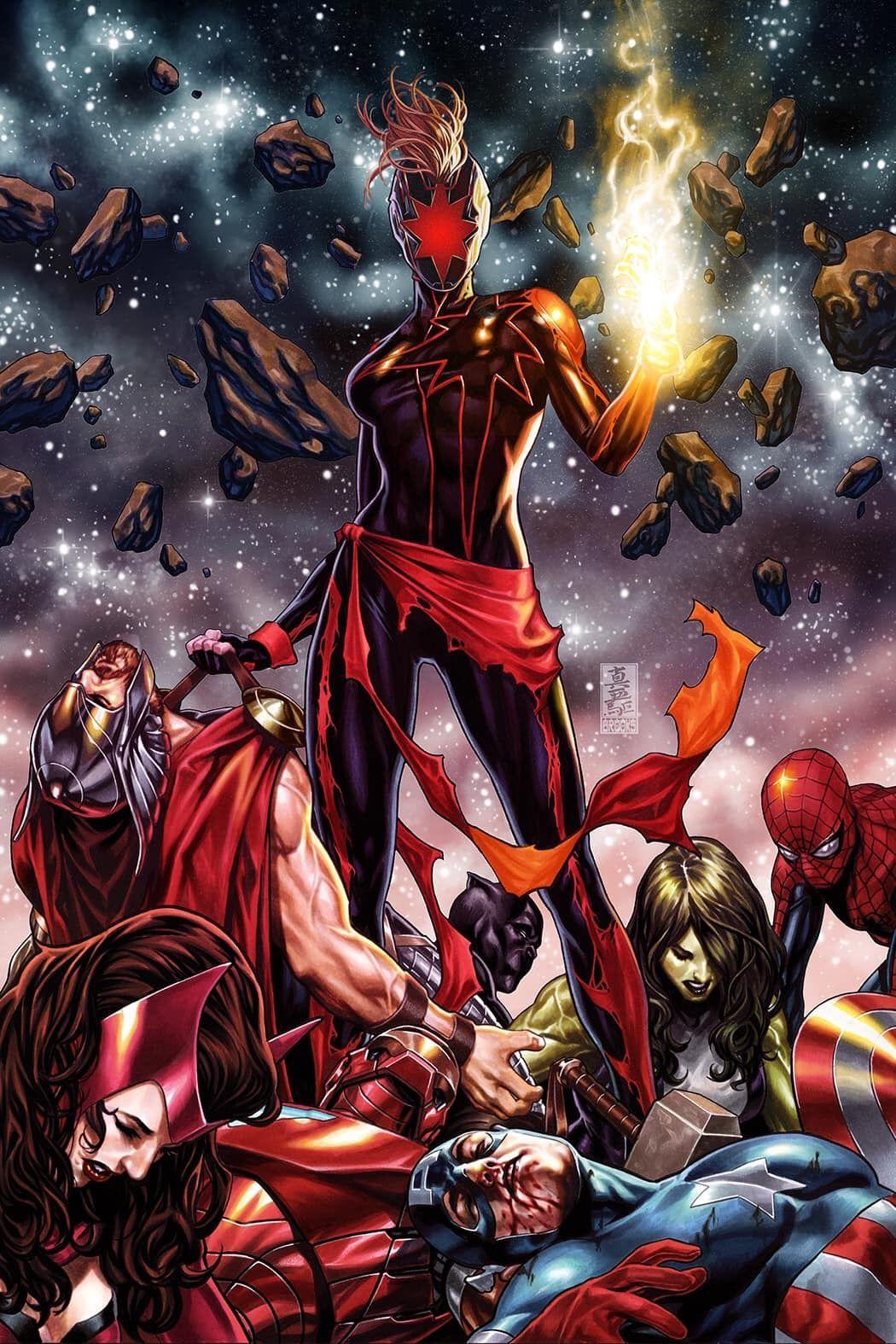Dark Captain Marvel by Mark Brooks   Marvel comics art, Marvel 20 ...