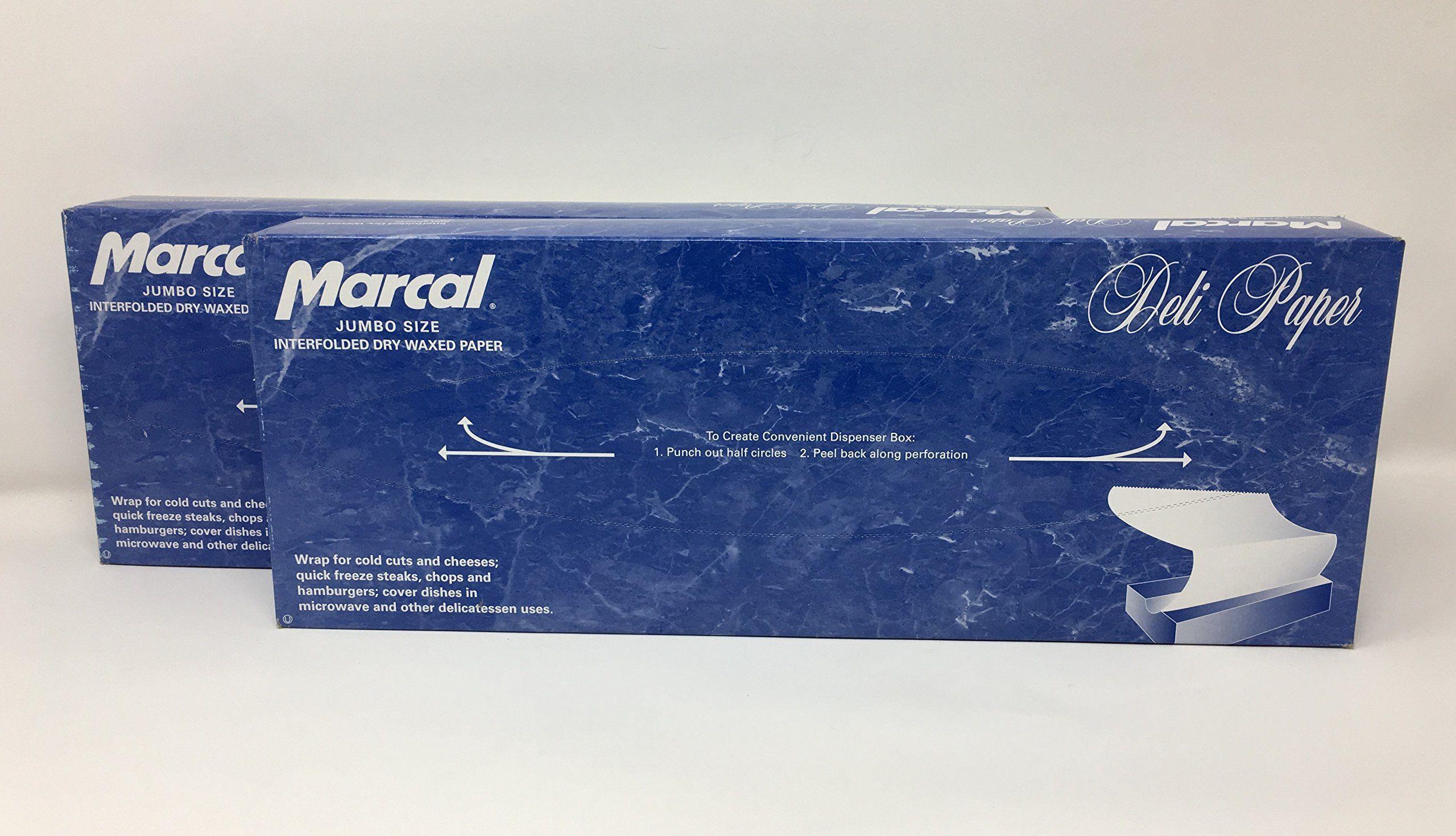 marcal deli wrap interfolded wax paper dry waxed food liner jumbo