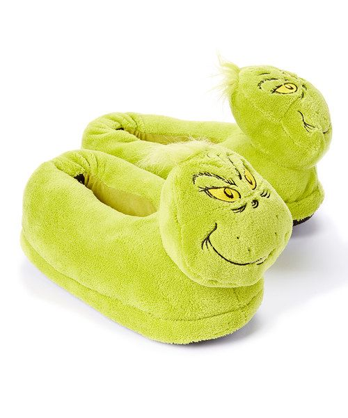Look at this Green Grinch Slippers - Adult on #zulily today!
