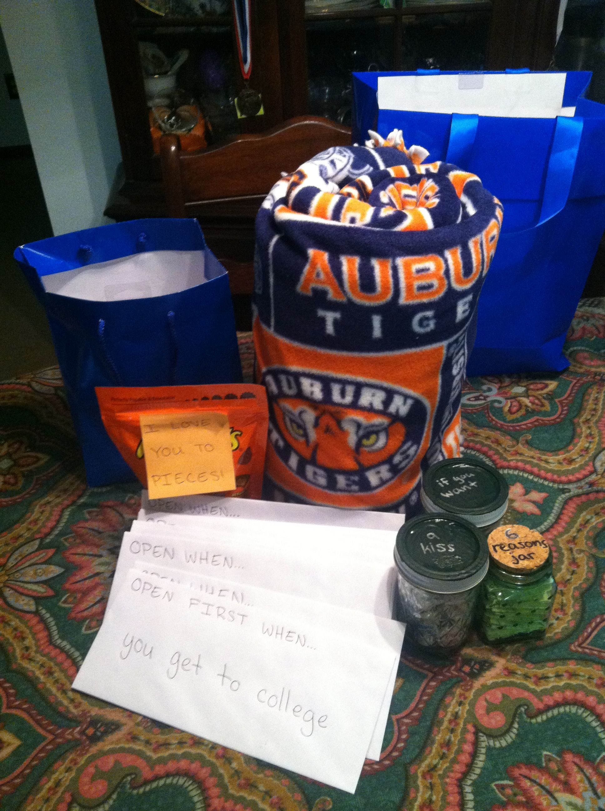 Going Away College Care Package For Boyfriend Tie Blanket