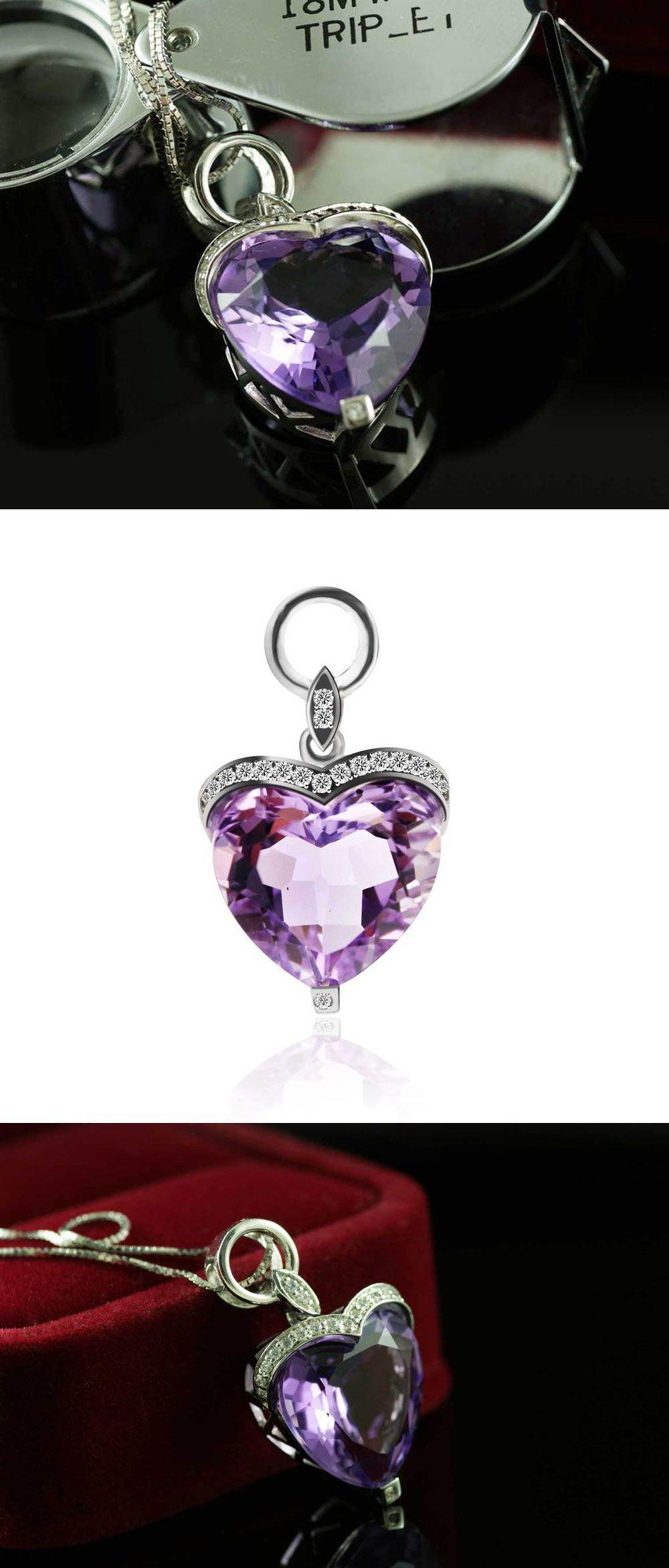Heart Amethyst Gemstone Pendant US $231.65 / piece