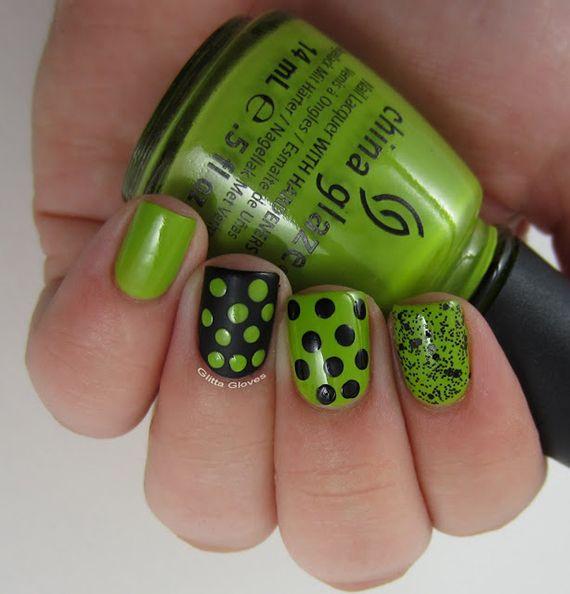 Fotos de uñas color verde - 45 Ejemplos - green nails   Decoración ...