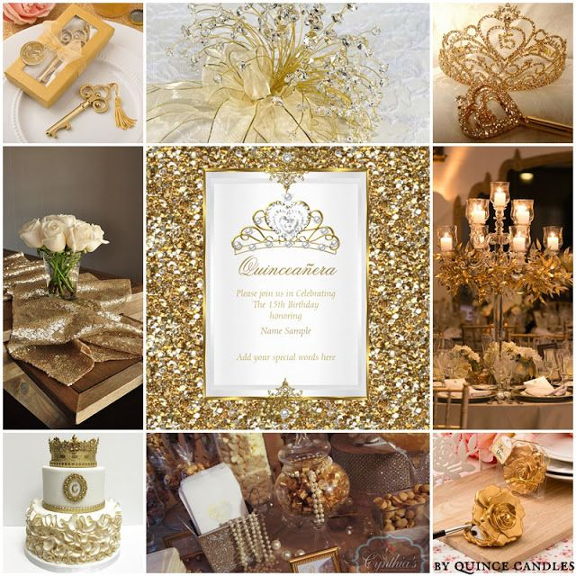 Dripping In Gold Quinceanera Sweet Fifteen Theme
