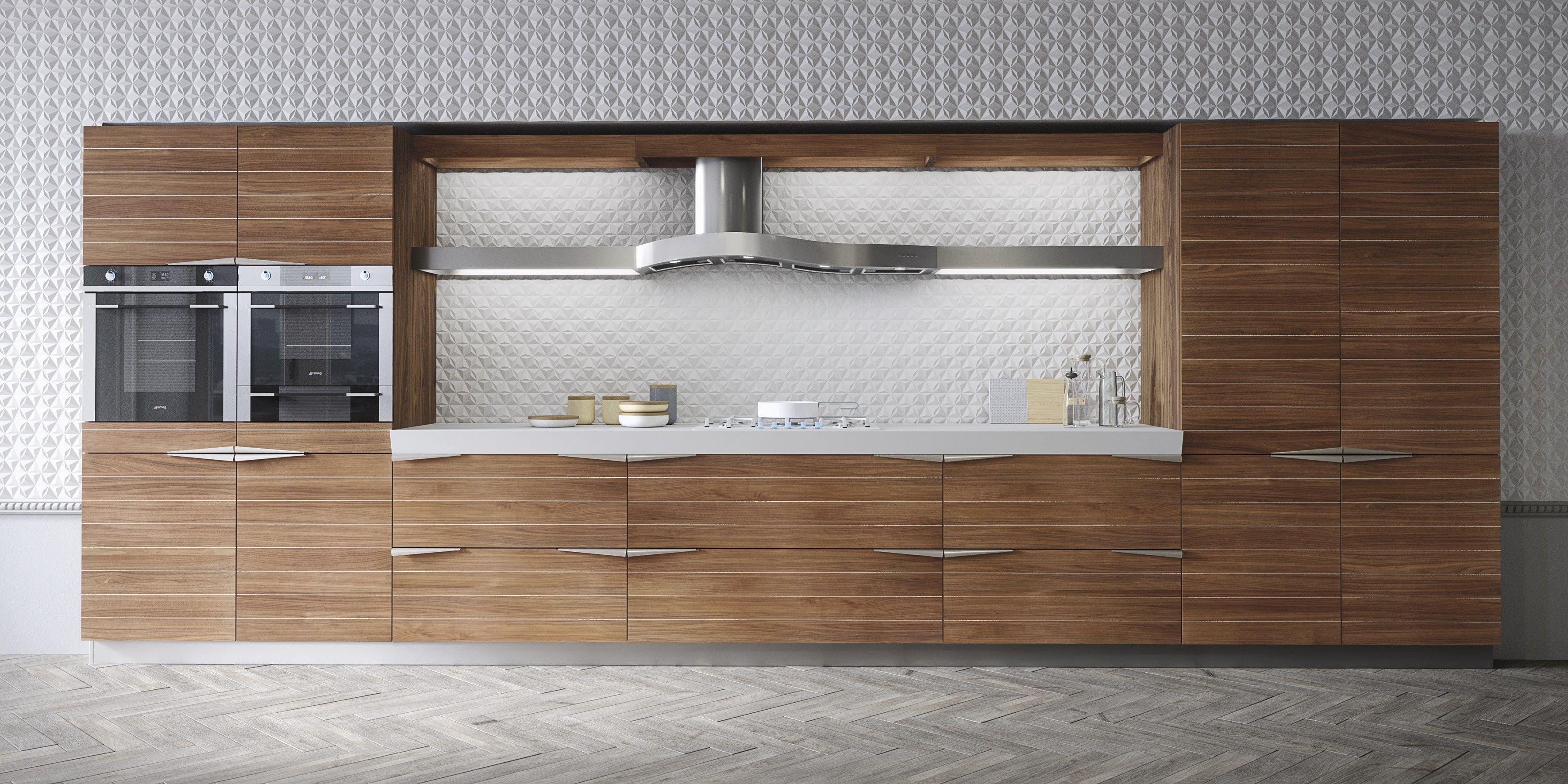 Cucina componibile lineare in noce TIME by Snaidero design Lucci ...