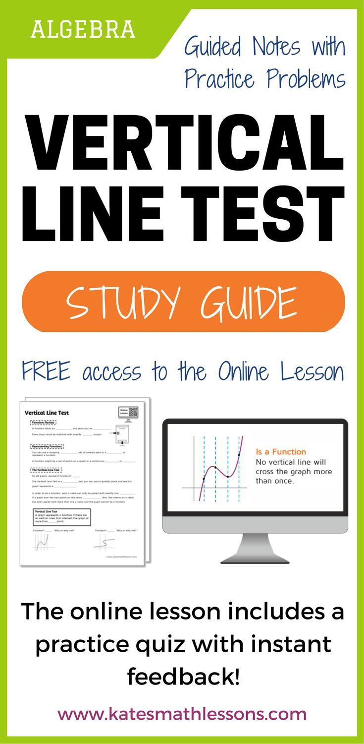 Vertical Line Test Study Guide | Note sheet, Algebra and Student work