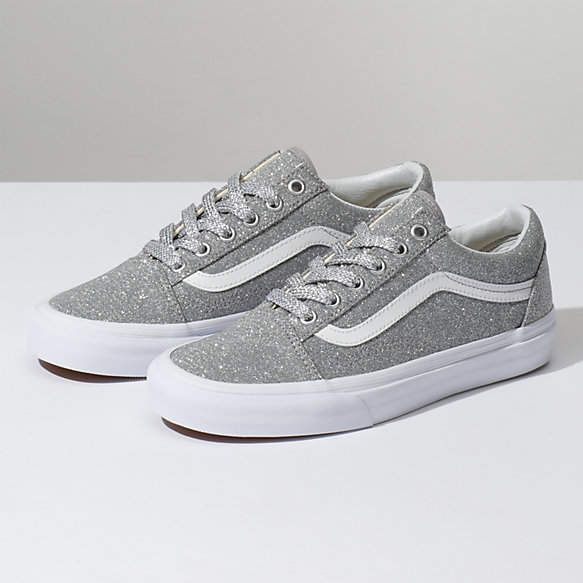 Vans Old Skool (Lurex Glitter) Silver True White