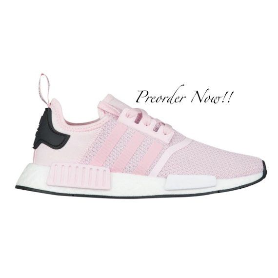 4d8f85ee5 Swarovski Womens Adidas Originals NMD R1 Light Pink Sneakers Blinged Out  With Authentic Clear Swarovski Crystals