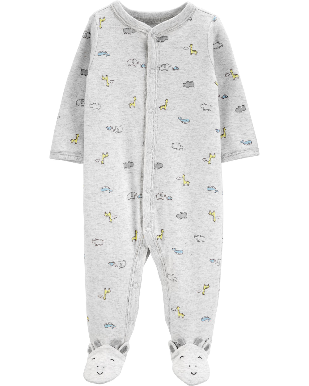 CARTER/'S BABY GIRL/'S ONE PIECE SLEEP /& PLAY JUMPSUIT WITH GIRAFFE NWT