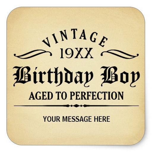 Vintage Whiskey Person Funny Birthday Sticker Surprise Birthday