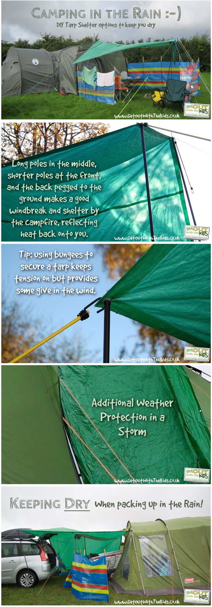 diy camping tarp tips pin   camping life   pinterest   camping, tent