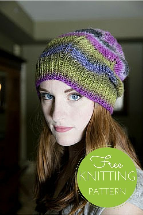 Gina Chevron Hat Free Knitting Pattern | Hats | Pinterest | Mütze ...