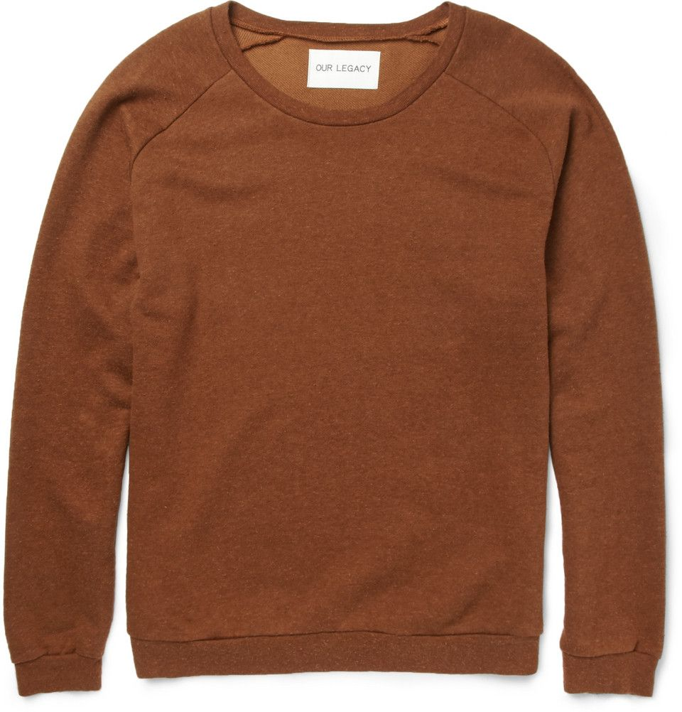 Our Legacy Great Cotton and Silk-Blend Jersey Sweatshirt | MR PORTER
