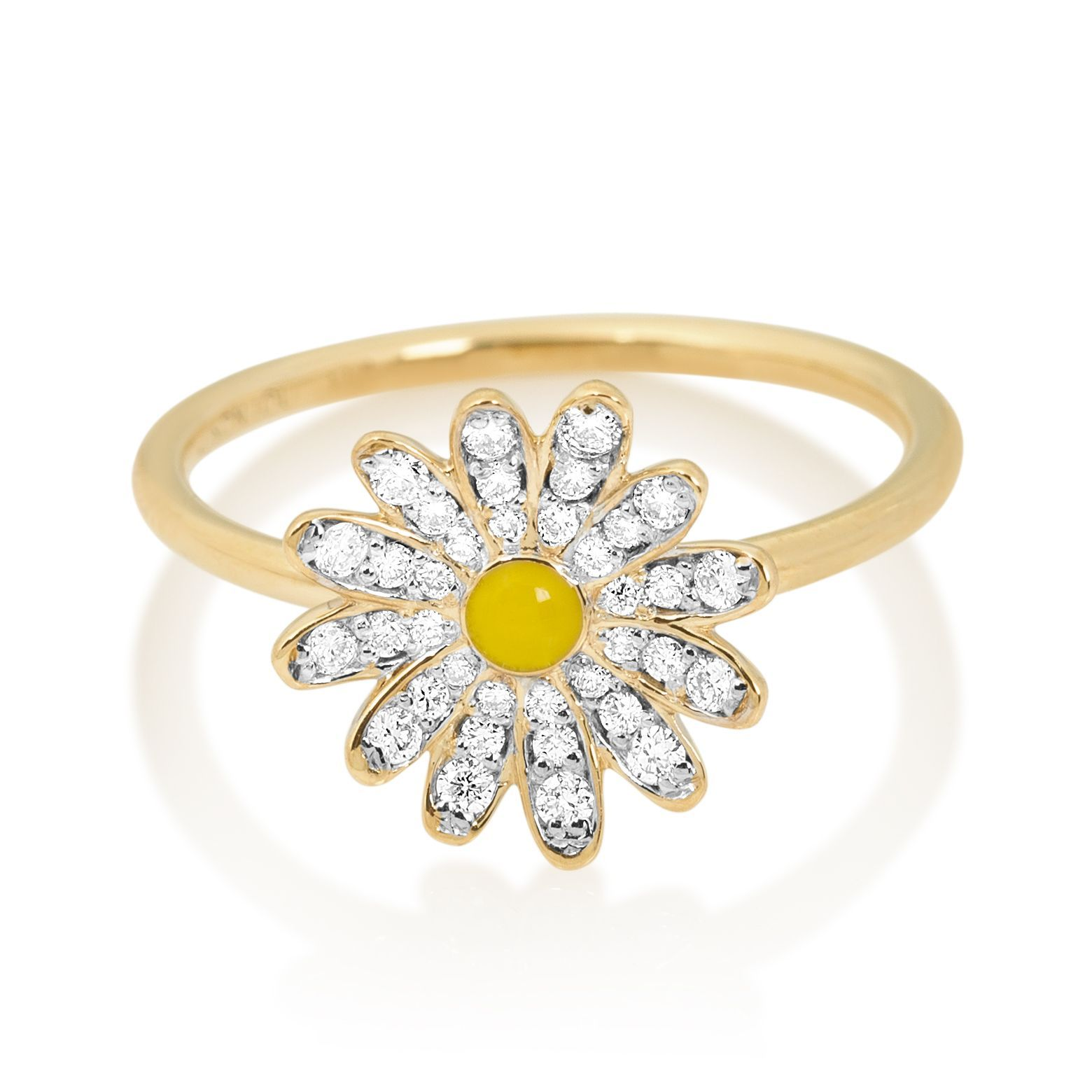 emma jewels ring chapman gallery diamond jewelry lyst daisy flower white in