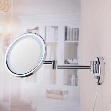 8 Inch Chrome Two Sides Wall Mounted Led Bathroom Make Up