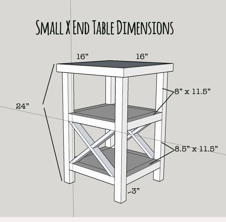 Free plans for a tall and skinny x end table with 2 shelves build free plans for a tall and skinny x end table with 2 shelves build this tall end tablesdiy end tableswood solutioingenieria Images