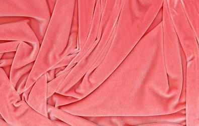 Pale Pink Stretch Velvet Fabric
