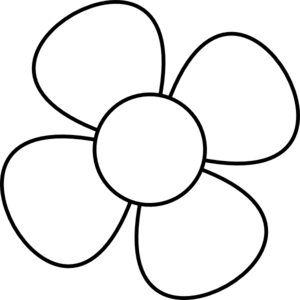 15+ Flower Clipart Free Black And White